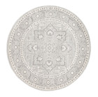 Silver Flower Transitional Rug (ux)