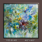 Silver Frame-Hand Painted Oil Painting-abstract - 101x101cm