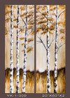 Frameless Hand Painted Oil Painting-trees - 51x152cm/each