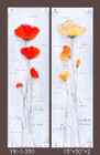 Frameless Hand Painted Oil Painting-flower - 38x127cm/each