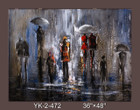 Frameless Hand Painted Oil Painting-rainy weather - 122x91cm