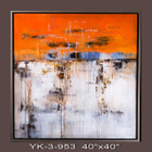 Silver Frame-Hand Painted Oil Painting-abstract 4 - 101x101cm