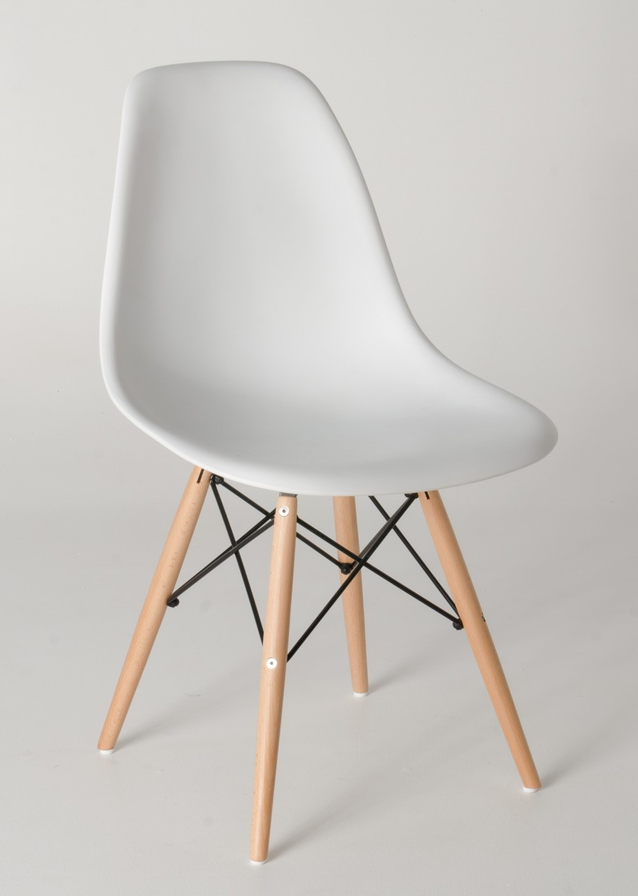 Replica eames dsw chairs plastic black steel natural for Reproduction eames dsw