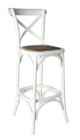 Cross Barstool - American Oak - Various DISTRESSED Colours