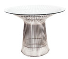 Replica Warren Platner - Wire Dining Table stainless steel frame, size 100cm