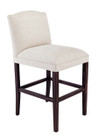 Upholstered high back barstool