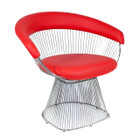 Replica Warren Platner Armchair-Premium Stainless steel with any colour of Leather