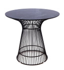 Replica Warren Platner - Wire Dining Table - Black Powdercoated - Marble Top - 80cm