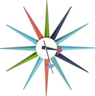 Replica George Nelson Sunburst Clock - multicolour