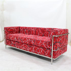 Replica Le Corbusier 3-seater-Red Wool Fabric