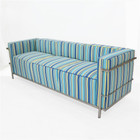 Replica Le Corbusier 3-seater-Blue Wool Fabric