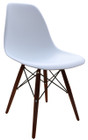 Replica Charles Eames DSW Dining Chair - plastic, black steel, walnut timber legs - various colours