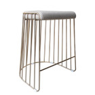 Replica Wire Stool - Stainless Steel Frame