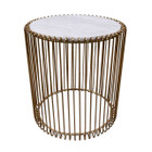 Replica Wire lamp table-Rose Gold Frame with Marble Top
