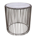 Replica Wire lamp table-Stainless Steel Frame with Marble Top
