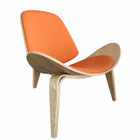 Replica CH07 Shell Chair - natural frame with various cushions