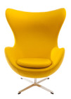 Replica Egg Chair & Egg Footstool Combo - Yellow