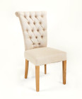 French Provincial Dining Chairs - American Oak Timber - Linen Color Choice