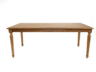 American Oak Timber Dining Table with rounded oak legs