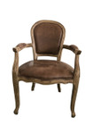 Jean-Paul Armchair - Brown 100% Premium Vintage Leather - Walnut Legs