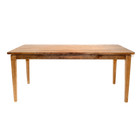 American Oak Timber Dining Table with rounded corners