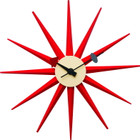 Replica George Nelson Sunburst Clock - Red