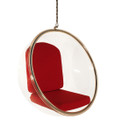 Replica Eero Aarnio Hanging Bubble Chair-Red Fabric cushion