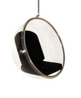 Replica Eero Aarnio Hanging Bubble Chair-Black Fabric cushion