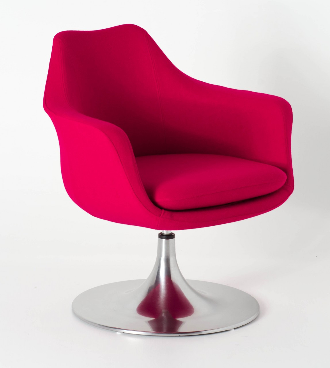 Replica eero saarinen tulip armchair upholstered fibreglass rose milano republic furniture - Replica tulip chair ...