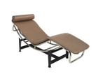 Replica Le Corbusier lounge LC4 with mocha Italian leather