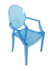 Replica Louis Ghost Chair - Transparent Dark Blue