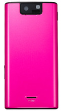 P-01D Official Docomo Pink Majenta Back Cover