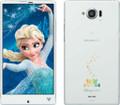 Docomo Sharp SH-02G Disney Aquos IGZO Edgest Phone Sparkling White