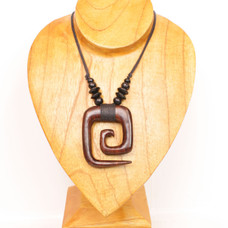 Wood Curl Necklace