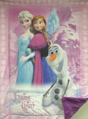FROZEN HEART BORREGO BABY BLANKET - R