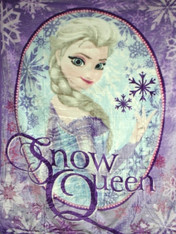 FROZEN SNOW QUEEN BABY BLANKET  - R