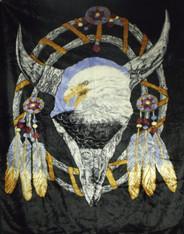 ATJ DREAM CATCHER EAGLE/WOLF 2PLY  - R