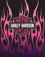 QUEEN HARLEY PINK FLAMES  -R
