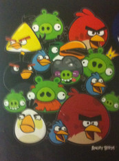 ANGRY BIRDS GANGS ALL HERE BLACK  - R