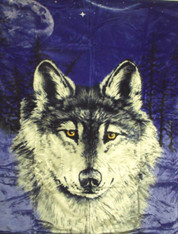 BLUE WOLF , 1 PLY , QUEEN MEDIUM WEIGHT  - R