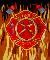 ATJ FIRE DEPARTMENT , 1PLY, QUEEN MEDIUM WEIGHT - R