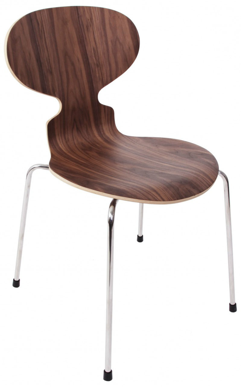 replica arne jacobsen ant chair walnut 59. Black Bedroom Furniture Sets. Home Design Ideas