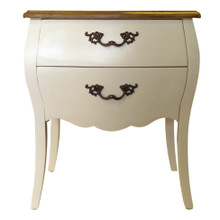 White Provincial Bedside Table