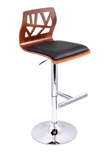 Luxury adjustable swivel bar stool black stools chairs for Luxury swivel bar stools