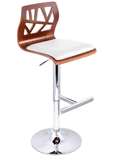 Luxury adjustable swivel bar stool white stools chairs for Luxury swivel bar stools