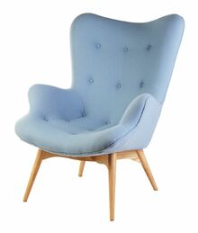 Grant Featherston Lounge Chair Sky Blue