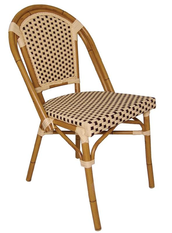Paris wicker bistro chair set of 4 stools chairs for Chaise enfant en rotin