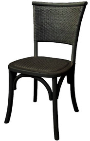 Black Provincial Rustic Chair