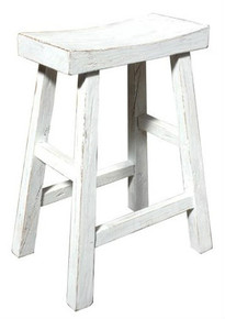 White Wash Canton Stool
