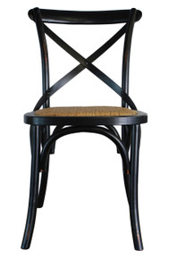 Provincial Crossback Bar Stool Black 189